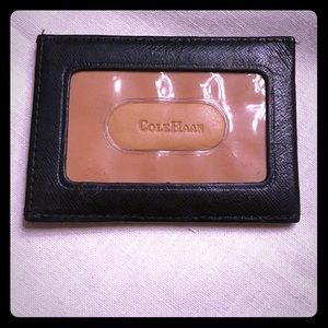 Cole Haan Black Leather ID Holder